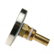 Термометр биметаллический аксиальный самоуплотняющийся F+R801 с погружной гильзой Watts арт (100 058 02)